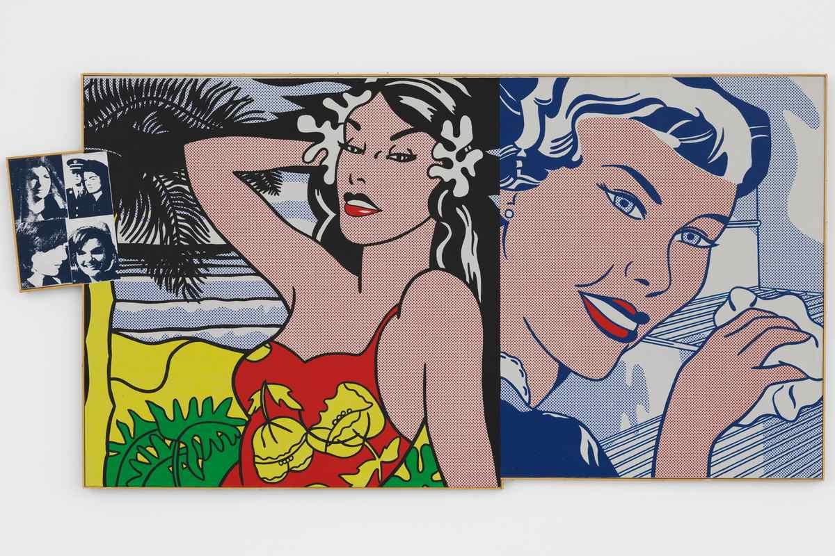 Richard Pettibone - Andy Warhol, Jackie 1964 four times Roy Lichtenstein Aloha 1962 The Refrigerator 1962