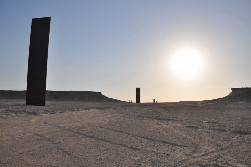 The work of Richard Serra explores the notion of sacred number seven in islamic world