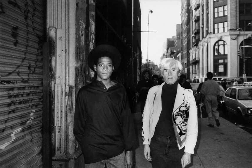 Ricky Powell - Basquiat and Warhol