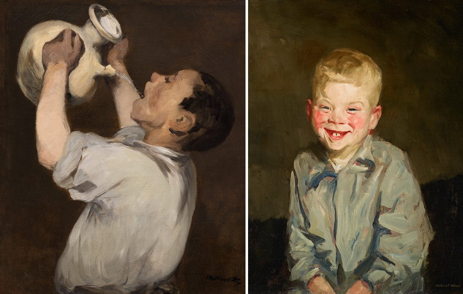 Right Edourad Manet – Boy with Pitcher Right Robert Henri – Laughing boy