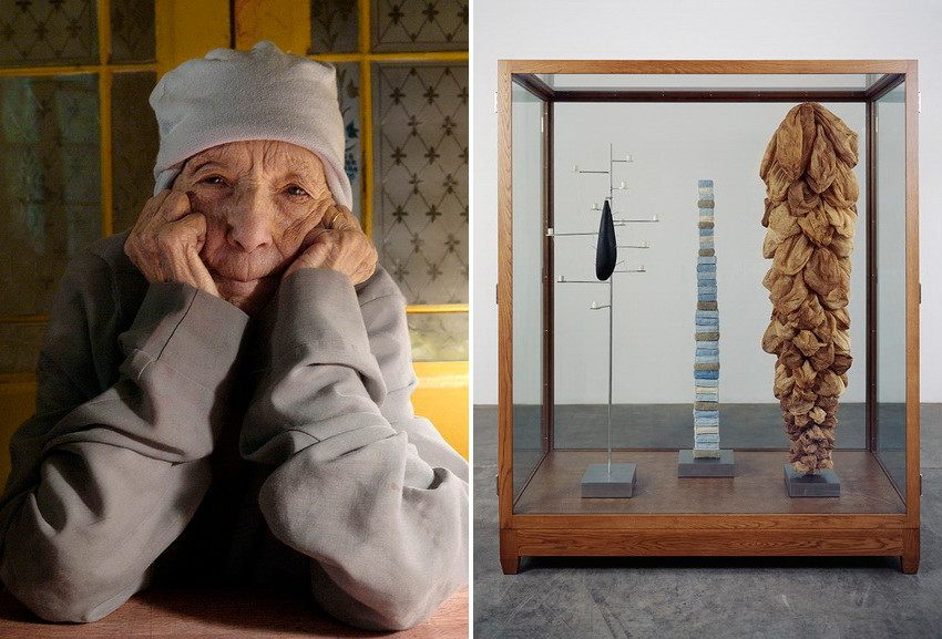 Left Right Louise Bourgeois at home in 2009. Photo Alex Van Gelder Right Untitled, 2005