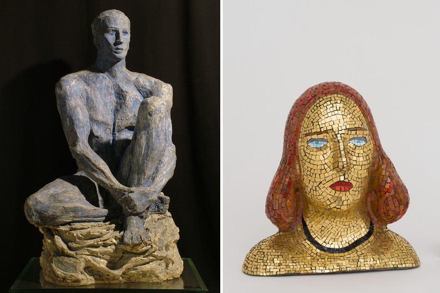 Right Lucio Fontana - Olympic Champion Left Lucio Fontana - Portrait of Teresita