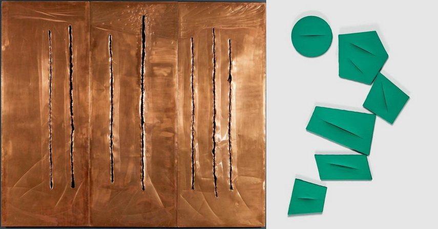 Right Lucio Fontana - Spatial Concept Left Lucio Fontana - Spatial Concept The Quanta