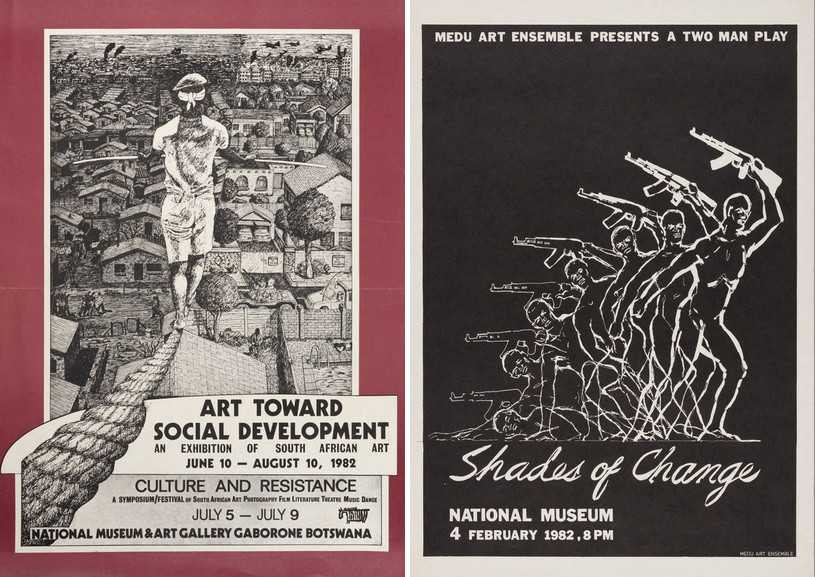 Right Medu Art Ensemble - Art toward Social Development, 1982 Left Medu Art Ensemble - Shades of Change