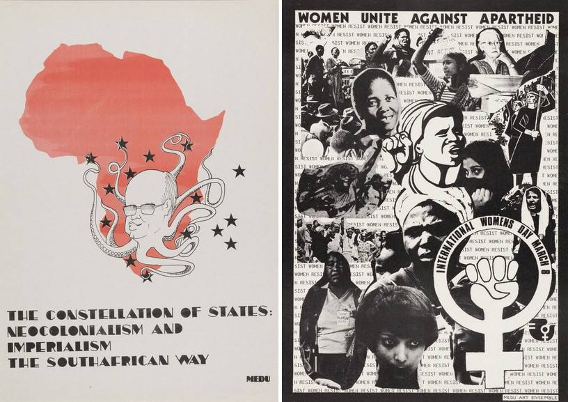 Right Medu Art Ensemble - The Constallation of States Left Medu Art Ensemble Women Against Apartheid