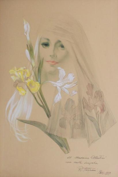 Rino Ferrari-Jeune femme aux iris-1979