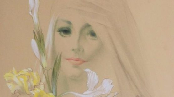Rino Ferrari - Jeune femme aux iris (Detail), 1979