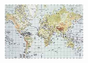 Rob Pruitt-Pjatteryd Oil Painting World Map-2011