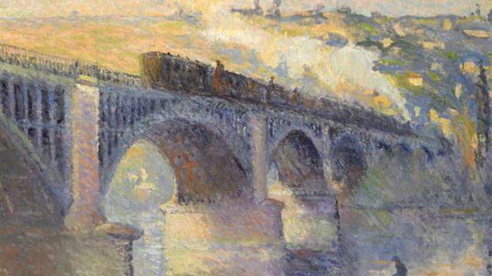 Robert Antoine Pinchon, Le Pont aux Anglais, soleil couchant, 1905