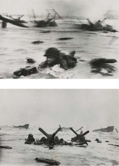Robert Capa-D-Day Landing On Omaha Beach Normandy June 6 1944 (Yank Wades Ashore and France Invasion)-1944