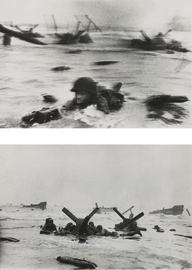 Robert Capa-D-Day Landing On Omaha Beach Normandy June 6 1944 (Yank Wades Ashore and France Invasion)-1944