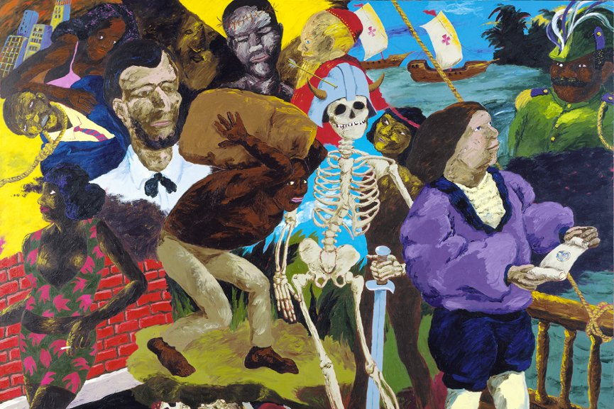 Robert Colescott - Knowledge of the Past is the Key to the Future Some Afterthoughts on Discovery, 1986
