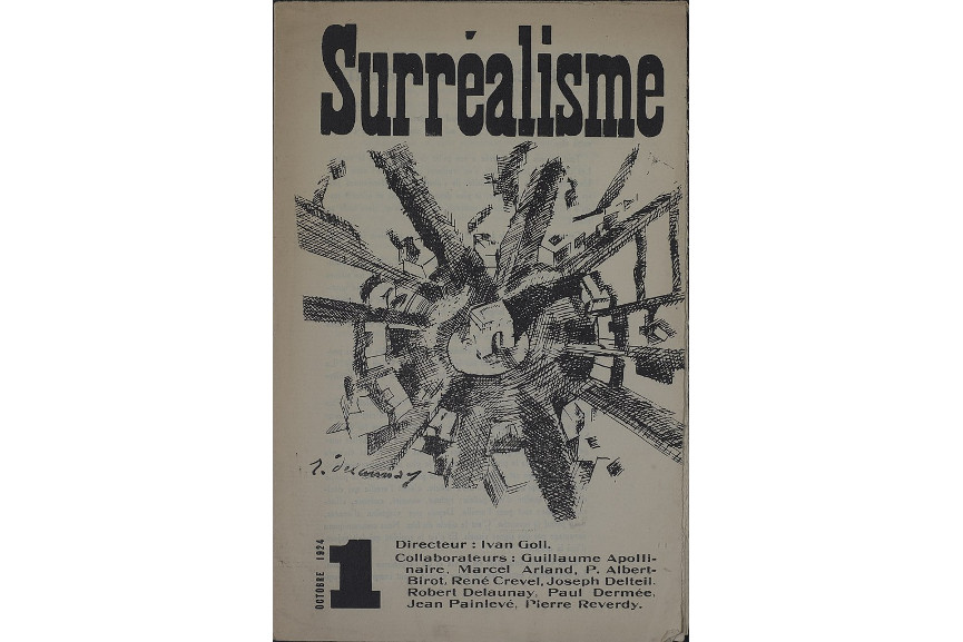 Robert Delaunay illustration on cover of Yvan Golls Surrealisme