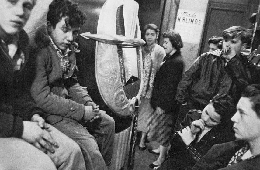 Robert Frank - Candy Store Music on Page, New York City, 1955 - Image via artblastcom