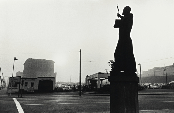Robert Frank-Los Angeles (St. Francis, Gas Station, And City Hall)-1956