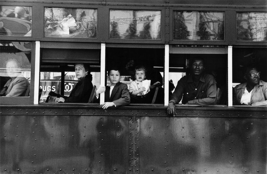 One of the best photo books, Robert Frank - Trolley - New Orleans © 2008 Robert Frank, one of the photos taken during his travel