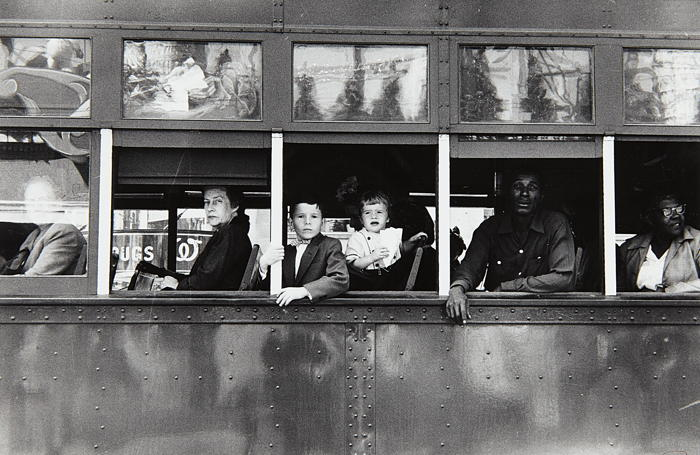 Robert Frank-Trolley, New Orleans-1955