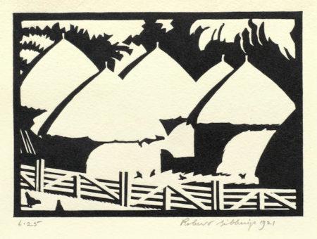 Robert Gibbings-The Rickyard-1921