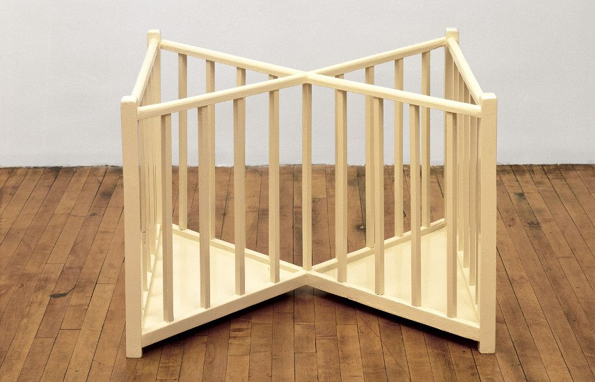 Robert Gober - X Playpen Gallery View in Use, 1987 - Image via artblastcom