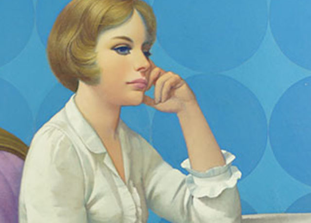Robert Grilley - Black Stripe and Blue (detail)