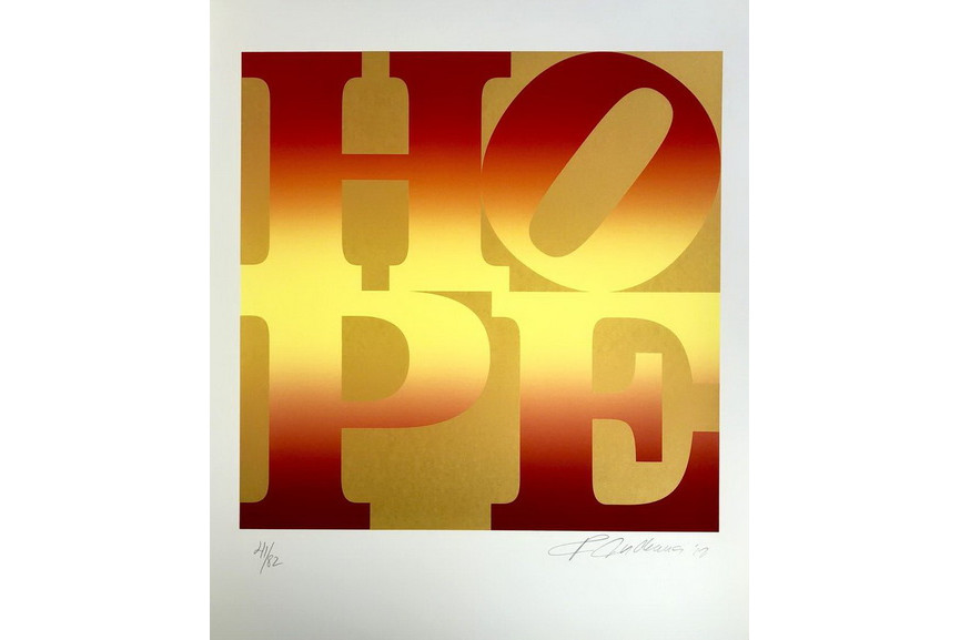 Robert Indiana - Autumn Four Seasons of Hope Gold Portfolio 2