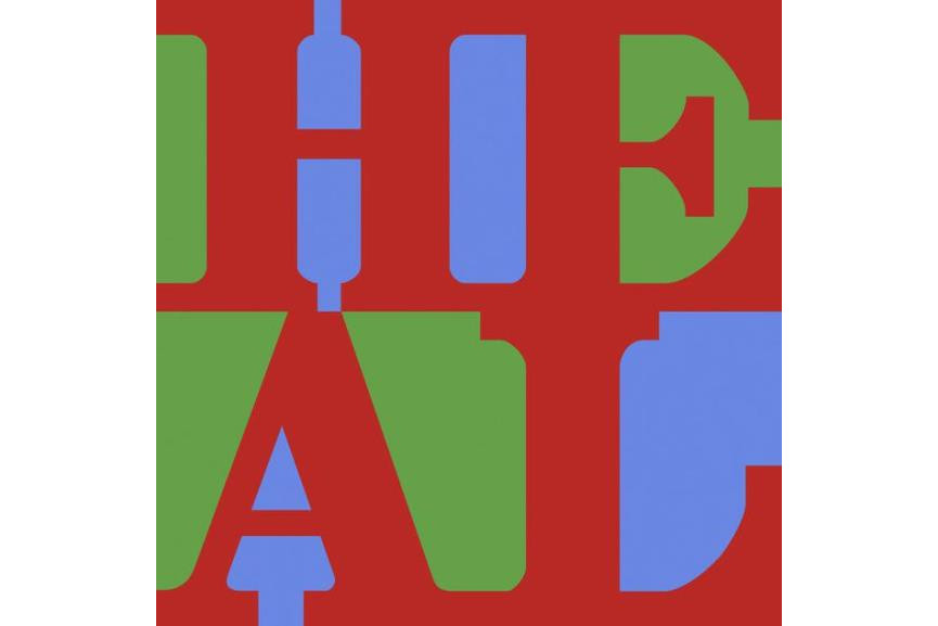 Robert Indiana - HEAL Red Green Blue Variation