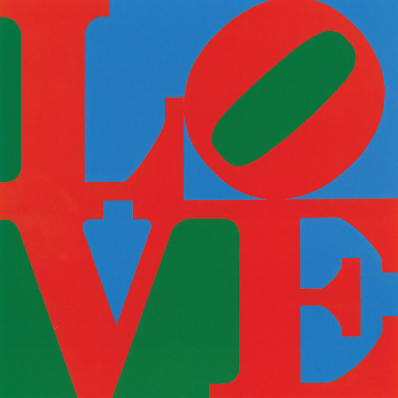 LOVE, 1967, concieved in 1966 and on view in front of the museum