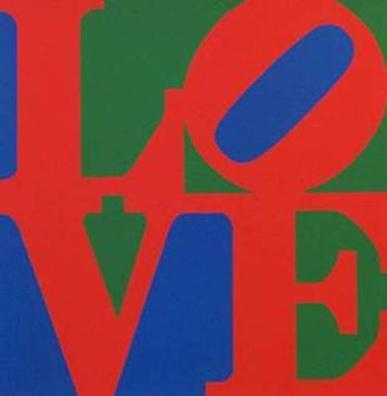 Robert Indiana - LOVE (Blue Red Green)