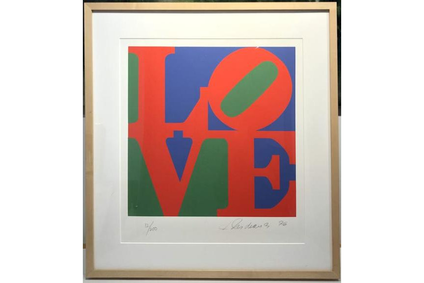 Robert Indiana - LOVE from The Book of Love portfolio