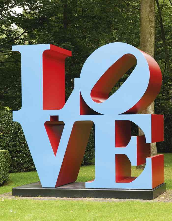 Robert Indiana-Love (Blue Faces Red Sides)-1999