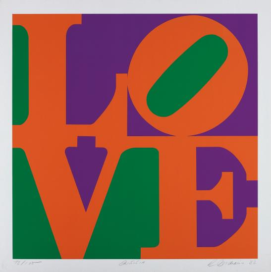 Robert Indiana-Zinnia, from Garden of Love-1982