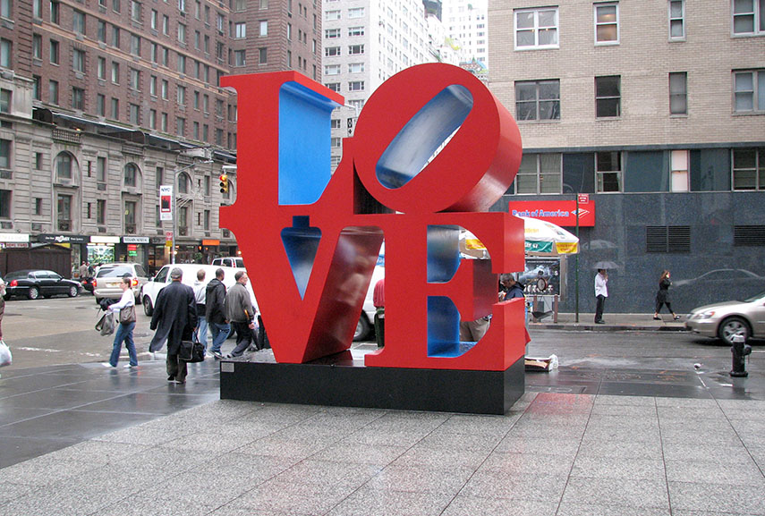 Robert Indiana LOVE sculpture in New York