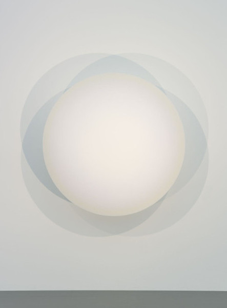 Robert Irwin - Untitled, 1965-67. Acrylic lacquer on shaped aluminum. Gift of Lannan Foundation