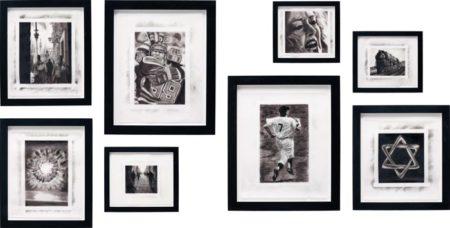 Robert Longo-Eight works: (i) Procession; (ii) Mark & Wayne; (iii) Explosion; (iv) Patrol; (v) Betty; (vi) Train; (vii) Mickey; (viii) Jewish Star; from the series Magellan-1996