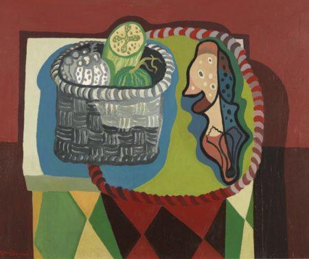 Robert MacBryde-Still Life With Chicken Bone-1949
