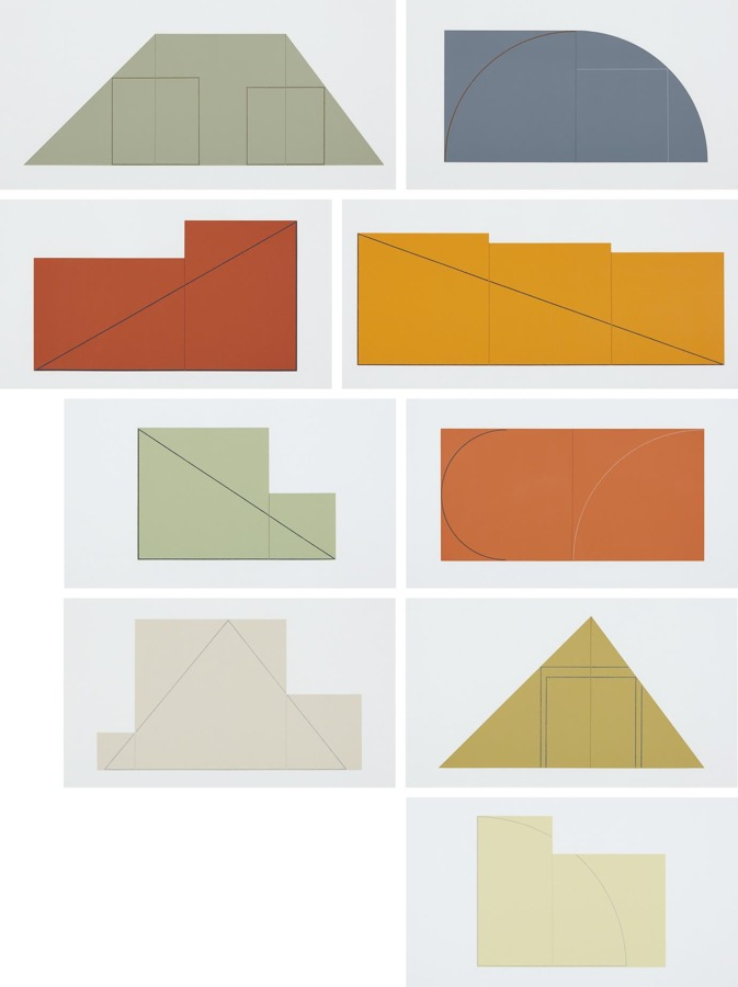 Robert Mangold-Multiple Panel Paintings, 1973-1976: A Book of Silk Screen Prints-1977