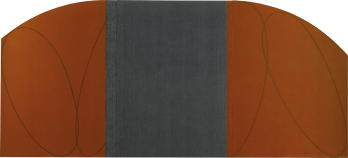Robert Mangold-Orange-Brown/Black Zone Painting Vii (Study)-1997