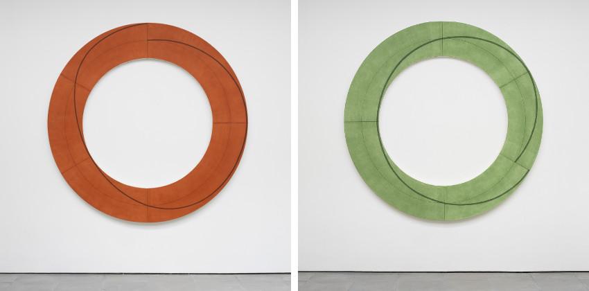 Robert Mangold - Ring Image E, 2009 - Ring Image H, 2009