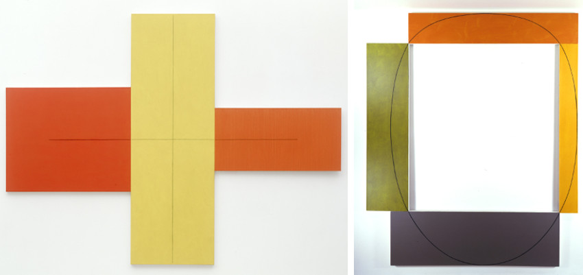 Robert Mangold - X Withing X (Red, Yellow, Orange), 1981 - Four Color Frame Painting No. 14, 1985