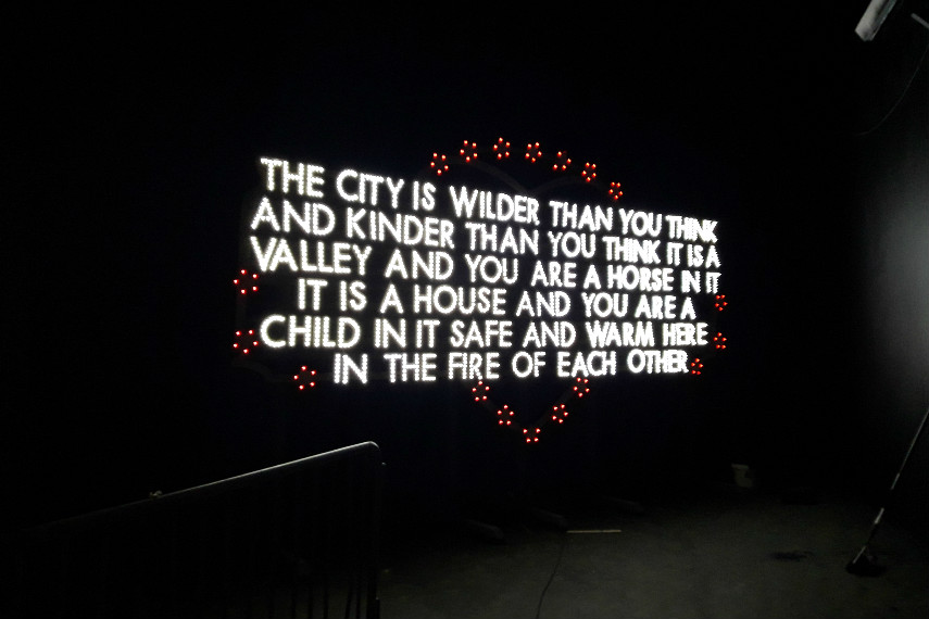 Robert Montgomery at Nuart Exhibition 2016