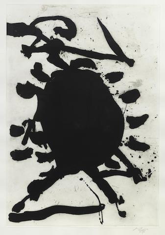 Robert Motherwell-Blackened Sun-1984