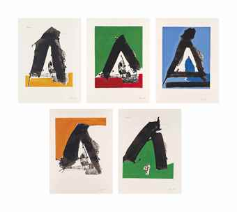 Robert Motherwell-Five Plates, from: The Basque Suite-1971