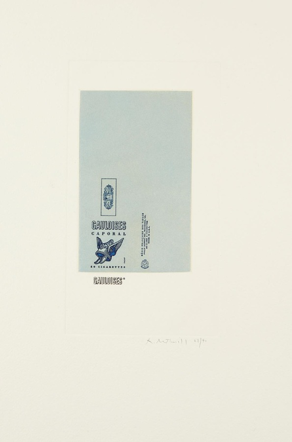 Robert Motherwell-Gauloises Bleues (White)-1970