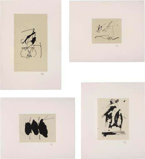 Robert Motherwell-Octavio Paz, Three Poems: 18 plates; and Octavio Paz, Three Poems: 26 plates-1988