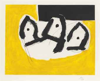 Robert Motherwell-Plate I, from: Sirens-1988