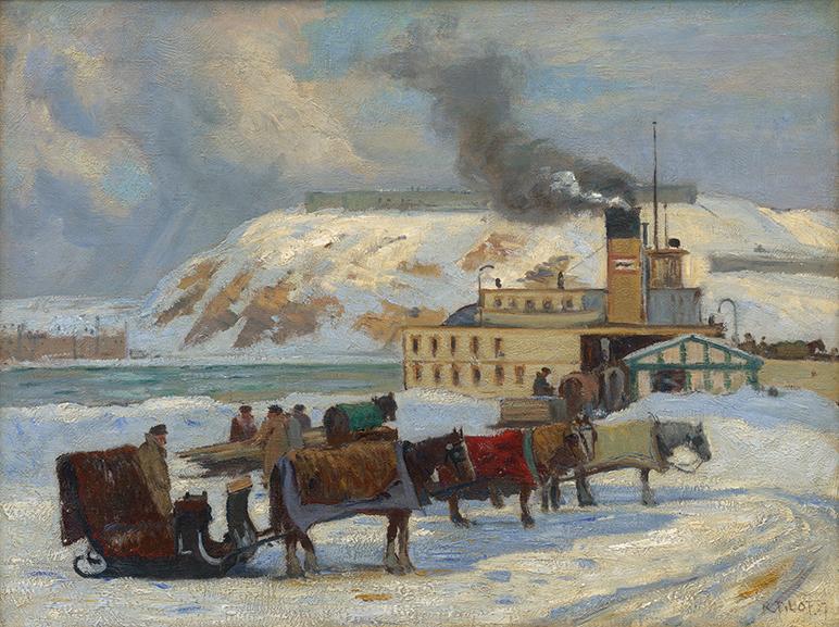 Robert Pilot – Waiting for the Ferry, 1927