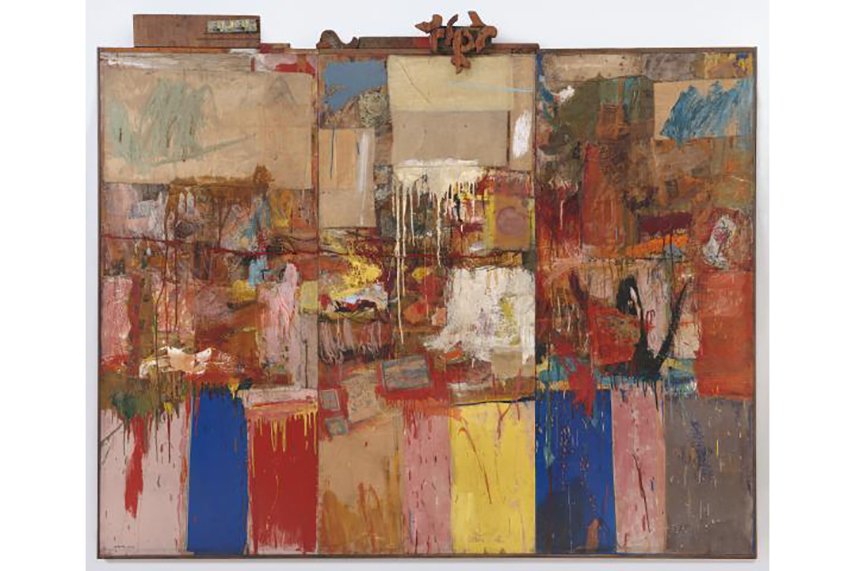 robert rauschenberg exhibition view museum collection street work press past new