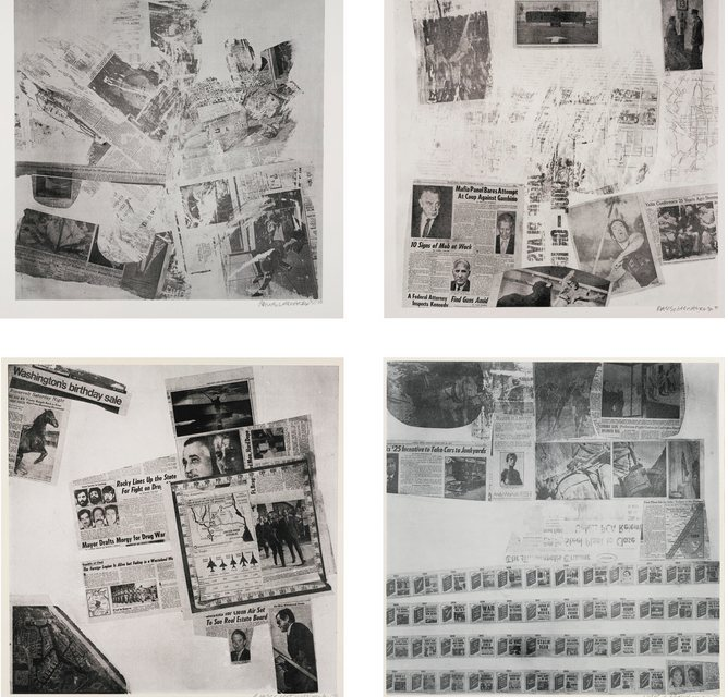 Robert Rauschenberg-Features From Currents-Five Prints (Foster 128, 131, 139, 143, 150)-1970
