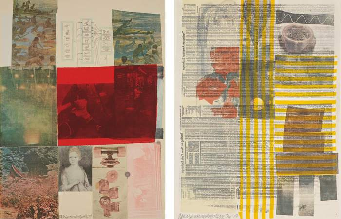 Robert Rauschenberg-From the Seat of Authority; and One More and We Will be More than Half Way There, from The Suite of Nine Prints-1979