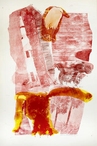 Robert Rauschenberg-Hybrid from Stoned Moon Series-1970